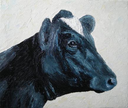 Holstein Frisian (Öl auf Leinwand, 25 x 30 cm, verkauft)
