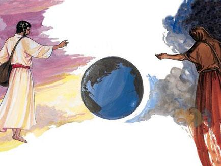 Des personnes sont appelées « enfants du diable » ou « enfants du mal » parce qu'elles ne pratiquent pas la justice et seront comparables à de la mauvaise herbe aux jours de la moisson de la terre (le champ c'est le monde).