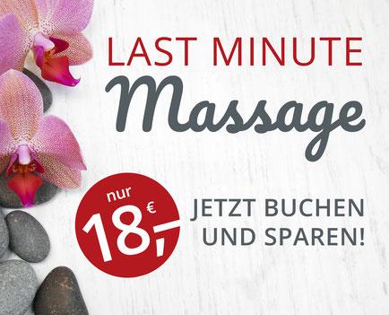 Last Minute Massage Angebot