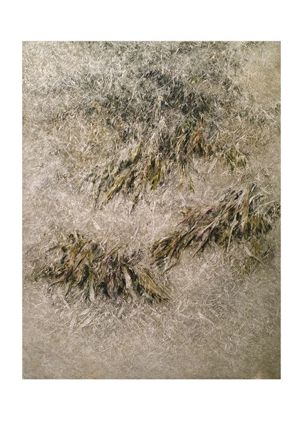 Broken Flowers IV 2015 Kunstharz, Steinmehl, Acrylfarbe, Ölfarbe auf Leinwand  210 x 160 cm