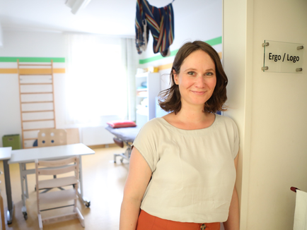 Katharina Veith Logopädin, Foto in ihrer Praxis