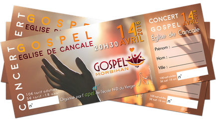 Billets de concert pour l'APEL de l'école ND du Verger