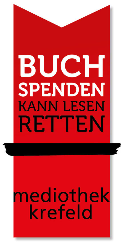 Buchspenden kann Lesen retten, Lesen-retten, Mediothek Krefeld, Freunde und Förderer der Mediothek Krefeld