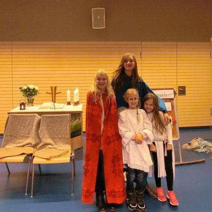 Von links nach rechts: Lina Koch, Sofie Ekler, Julie Ebert, Emilia Kopf