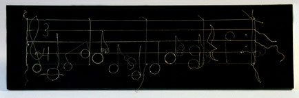 Bild:Melodie,Eigendesign,Holz,Saiten,Gitarrensaite,Note,Notenschlüssel,Dominik,Brühwiler,David Brandenberger,d-t-b.ch,d-t-b,