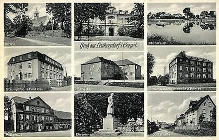 Emil Pfau's Strumpffabrik auf einer alten Ansichtskarte