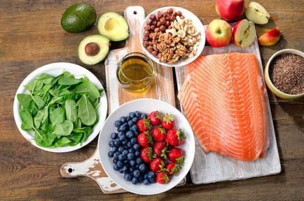 Bild von gesunden Lebensmitteln