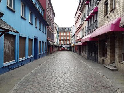 Hamburg St. Pauli - Herbertstraße im Lockdown