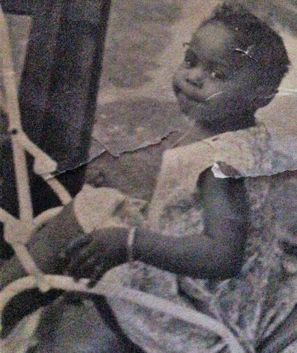 Photo of Sandra as a toddler