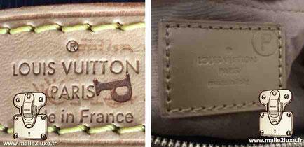 Marquage spéciaux P Louis Vuitton sac a main media presse