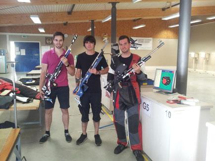 Das Team aus Buchholz mit Caspar Huber (rechts)
