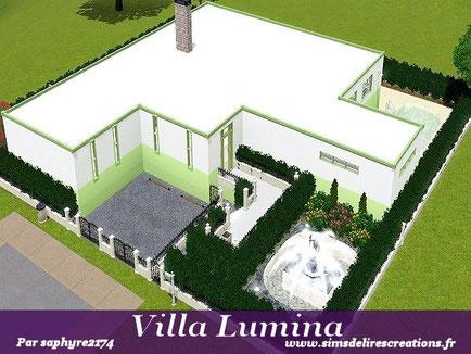 simsdelirescreations Sims sims3  moderne villa lumina maison creation saphyre2174