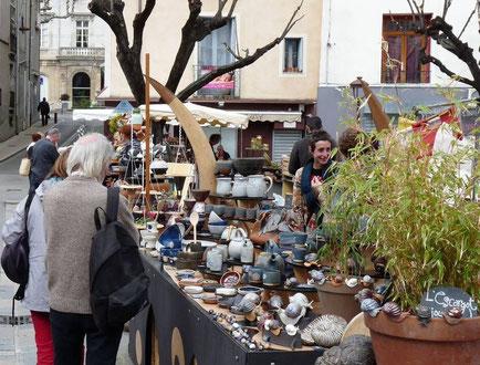 stand de Marie Lerouxel marché des potiers le vigan