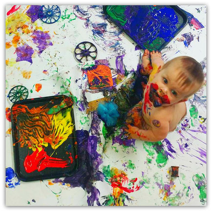 Messy Baby Class, A Sensory Art Experience