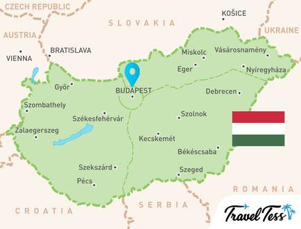Kaart van Hongarije