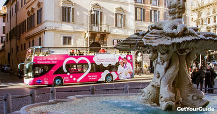 Hop-on-Hop-off bus Rome