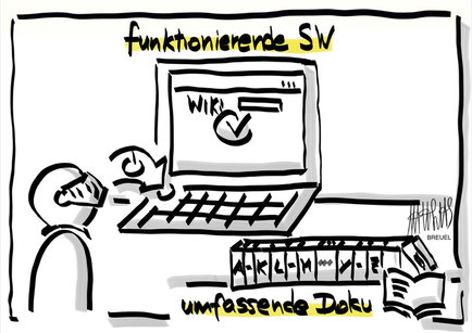 Funktionierende Software > umfassende Dokumentation