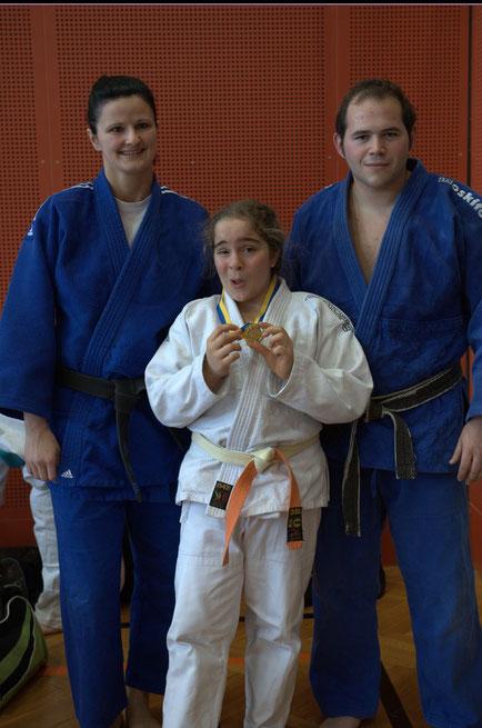 Judo Stockerau - Monika Moormann, Marlene Unterholzner und Markus Betz (v.l.n.r.)