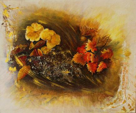 """""""Herbststürme""""60 x 50 cm Acryl und Paste auf Leinwand """"Herbststürme"""