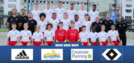 HSV U16 2016/2017 | Quelle: www.HSV.de | Tom Muhlack oben, zweiter von links