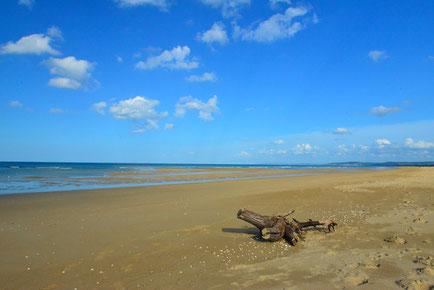 Toller Sandkasten! Strand bei Merville-Franceville-Plage.