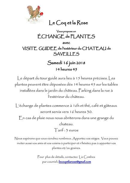 """Affiche invitation Association """"Le Coq et la Rose -"""