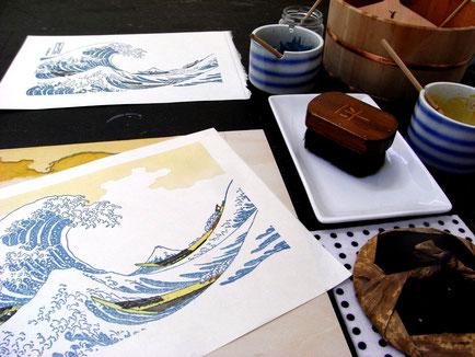 浮世絵摺り体験