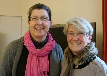 Sylvie MORIN et Florence de LAUZANNE, les deux souriantes aumônières de l'hôpital de Morlaix