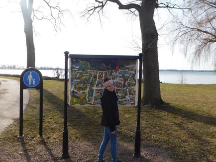 Irina Weiß am Vätternsee in Vadstena