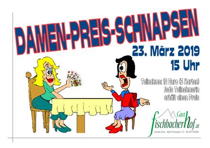 Plakat Damen-Preisschnapsen 2019