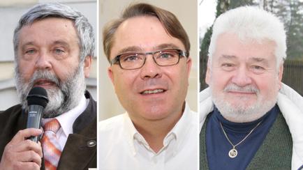 Bürgermeister Josef Spiegl (ÖVP), Gemeinderat Roman Deyssig (Frische Liste) und Gemeinderat Siegfried Maier (FPÖ) . Foto: Archiv NÖN