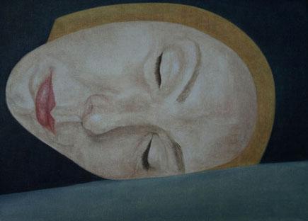 Selbstportrait, Öl auf Papier, 29,7 x 42 cm, 2010