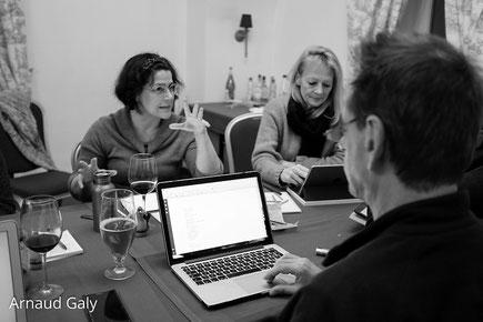 Moments d'écriture et de discussion entre les auteurs - Résidence d'écriture Molière  - Brunów, Pologne, 2019