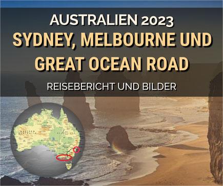 Melbourne, Great Ocean Road, Twelve Apostles, St. Kilda, Brighton Baths, Kennett River, Perth, Rottnest Island, Busselton, Dunsborough, Lesmurdie Falls, Fremantle