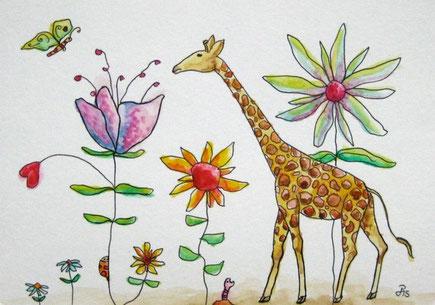 "Postkarte ""Giraffe"", 2015"