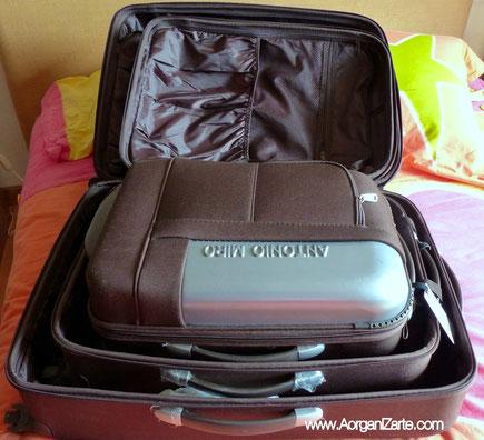 guarda las maletas unas dentro de otras - www.AorganiZarte.com