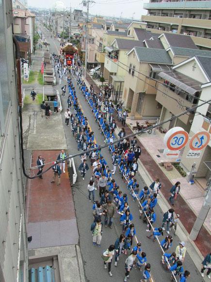 中野本町地車曳行2015