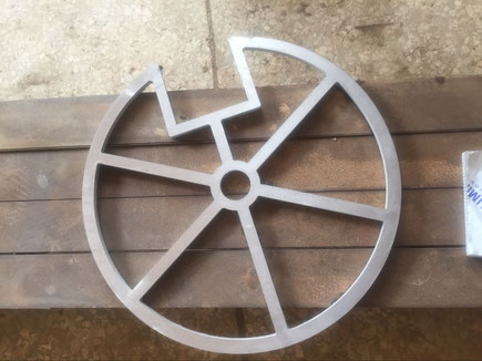 6mm aluminium wheel water jet cutting