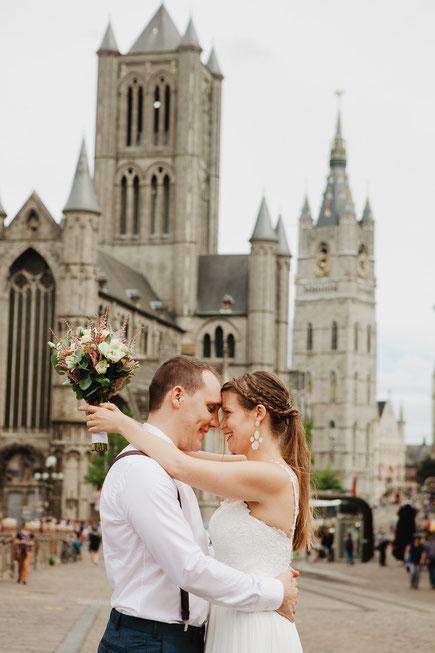 Gentse fotograaf uit Gent trouwen bruiloft koppelsessie