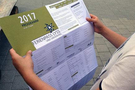 daniela dick dickesdesign aarberg ferienpass lyss flyer 2017