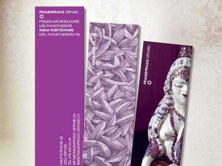 Buchzeichen von dickesdesign für Frauenpraxis Orpund