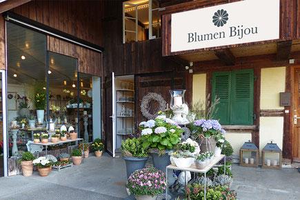Beschriftung von dickesdesign für Blumen Bijou Hinterkappelen