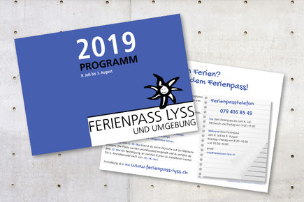 daniela dick dickesdesign aarberg flyer ferienpass lyss