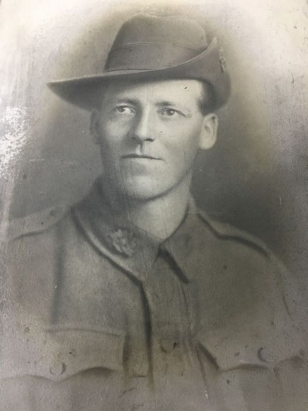(DR) John Grant's brother Harry was killed during the third battle of Ypres in 1917. Photo: Courtesy Dr Lachlan Grant