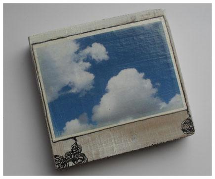 Holzobjekt, Fotoprint auf Papier, auf Holzbrett,2014