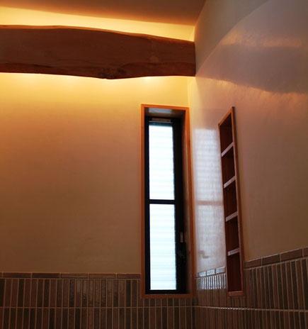 漆喰塗り壁「磨き仕上げ」