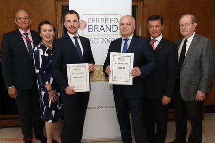 European Brand Institute, Certified Brand, Austrian Standard, ISO