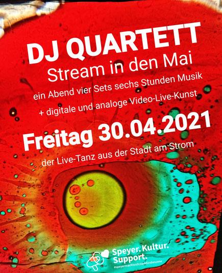 dj quartett stream in den mai online party  auge ohr