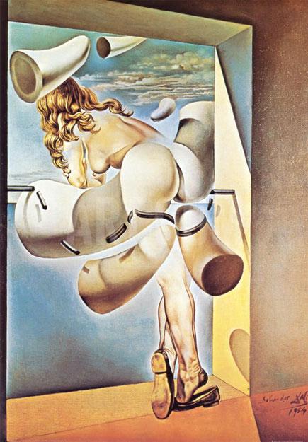 Содомское самоудовлетворение невинной девы - самые необычные картины  Дали