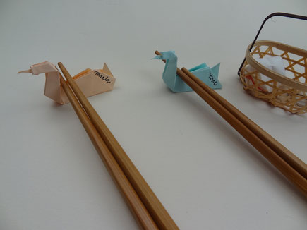 porte baguette en origami